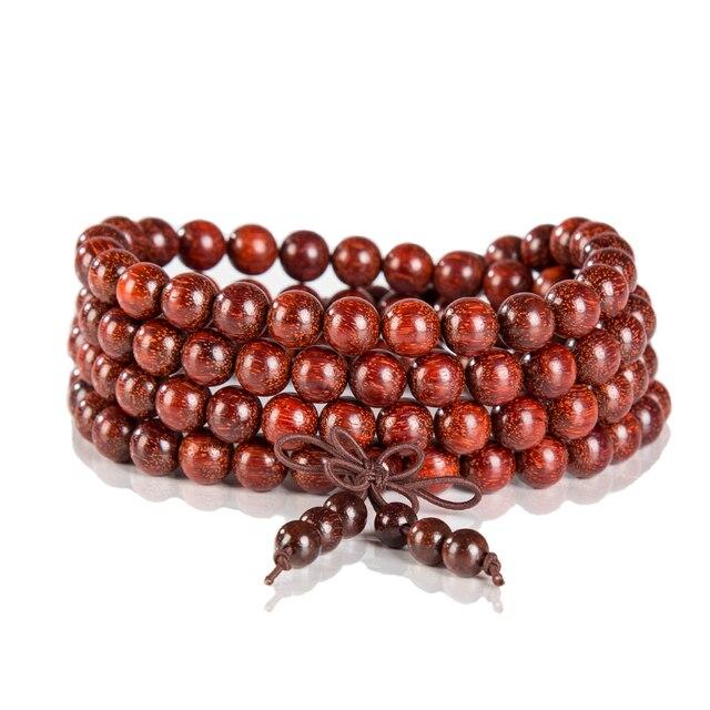108 Winding Fashion India Lobular Red Sandalwood Beads Bracelets Men Women Bangle Religion Gift Jewelry Pray For Bracelets