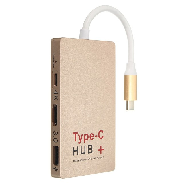 Многофункциональный USB 3.1 Super Speed Тип-С до 4 К HDMI USB 3.0 КОНЦЕНТРАТОР USB-C Устройство Для Чтения Карт Памяти SD Адаптер Высокое Качество