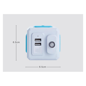 Image 4 - Smart Home PowerCube Socket EU / US / UK Plug 4 Socket 2 USB Port Adapter Power Outer Extension Adapter Universa 4 Jack Socket