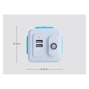 Image 4 - 스마트 홈 powercube 소켓 eu/us/uk 플러그 4 소켓 2 usb 포트 어댑터 전원 외부 확장 어댑터 유니버설 4 잭 소켓