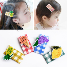 Raindo 9Pcs/Set Girl Fruits Hairpin Headwear Kids Barrettes Hair Clips Jewelry Snap Clips Children Hair Accessories headbands 6pcs lot fashion girl animal hairpin headwear kid s barrettes hair clips jewelry snap clips children hair accessories