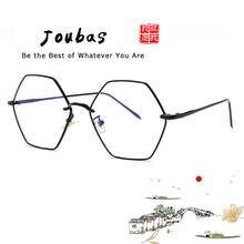 9d7a475dcece0 Joubas Ploygon Grandes Óculos de Armação 2018 Mulheres Homens Coreano de  Metal Plain Óculos Harajuku Óculos de Lente Clara Do Vi.