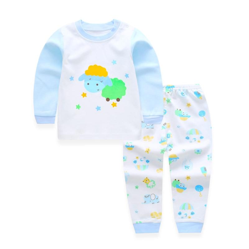fbcb6f983c8a Cotton Baby Boy Girl Clothing Pajamas Sets Autumn Winter Newborn ...