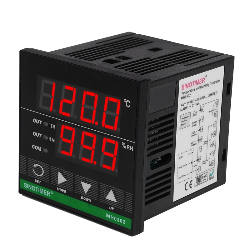 AC85~250VAC Power Supply Professional Digital temperature Humidity control controller with 3M Cable and sensor, Relay Output ac 150v 250v 800w double digits digital power controller dpc ii 800r zqpww