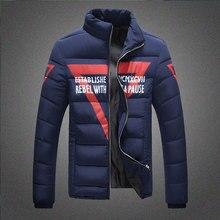 2016 Новый Классический Бренд Моды для Мужчин Теплые Куртки Лоскутное Плед Дизайн Молодой Человек Casaul Зимнее Пальто Хлопка мягкой одежды