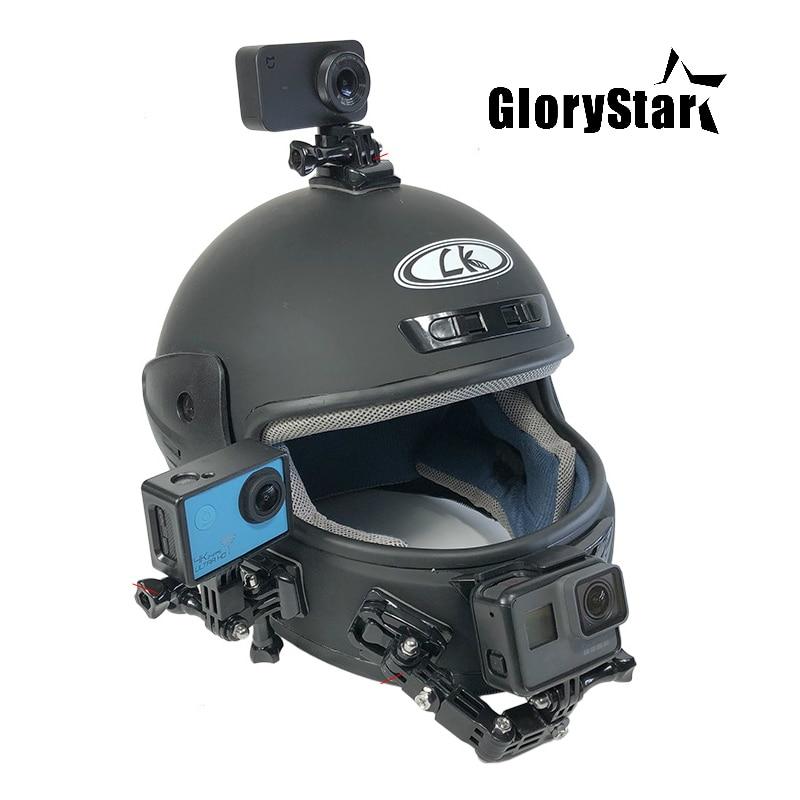 Us 2 96 Motorcycle Helmet Mount Curved Adhesive Arm For Xiaomi Yi 4k Gopro Hero 6 5 4 3 Sjcam Sj4000 Eken H9 Action Camera Accessories In Sports