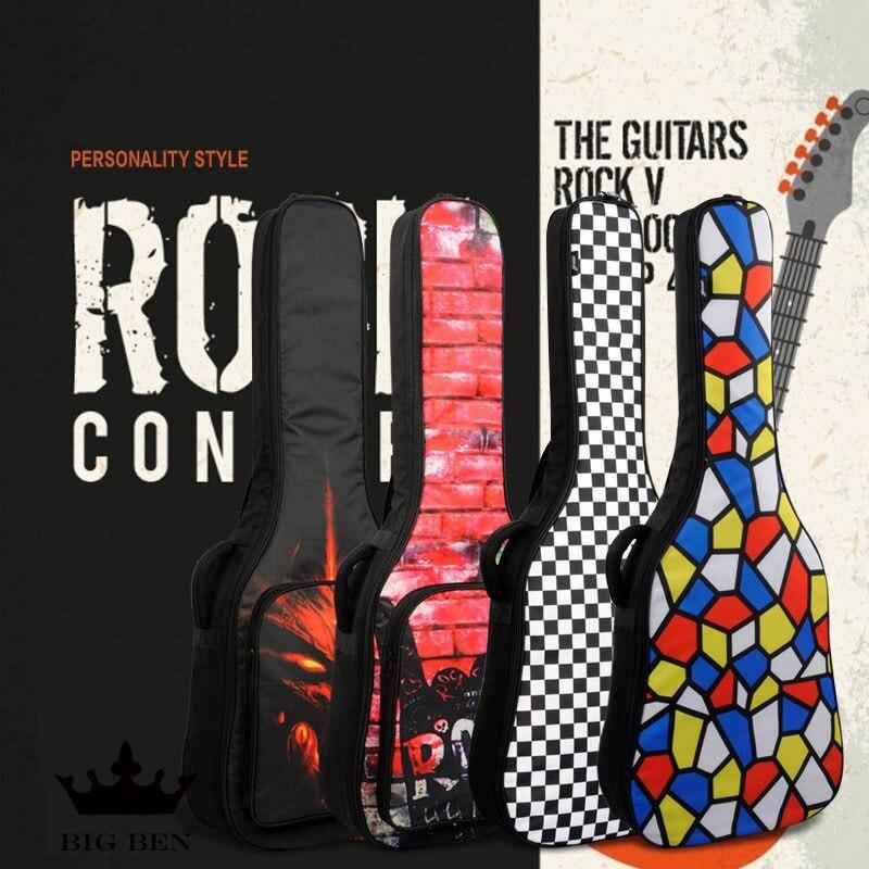 41 pouces folk étui de guitare acoustique sac de guitare épaissir empêcher les chocs preuve étanche 40 pouces guitare sangles guitare couverture sac à dos