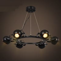 Woonkamer led hanglampen spots Amerikaanse Creatieve LED hanglamp winkel bar woonkamer restaurant 6/8 heads lamp GY257