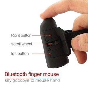 Image 2 - ユニバーサルフィンガーマウス Bluetooth ワイヤレスフィンガーリング光学式マウス 1600Dpi ハンドマウスノートパソコン用デスクトップポータブル