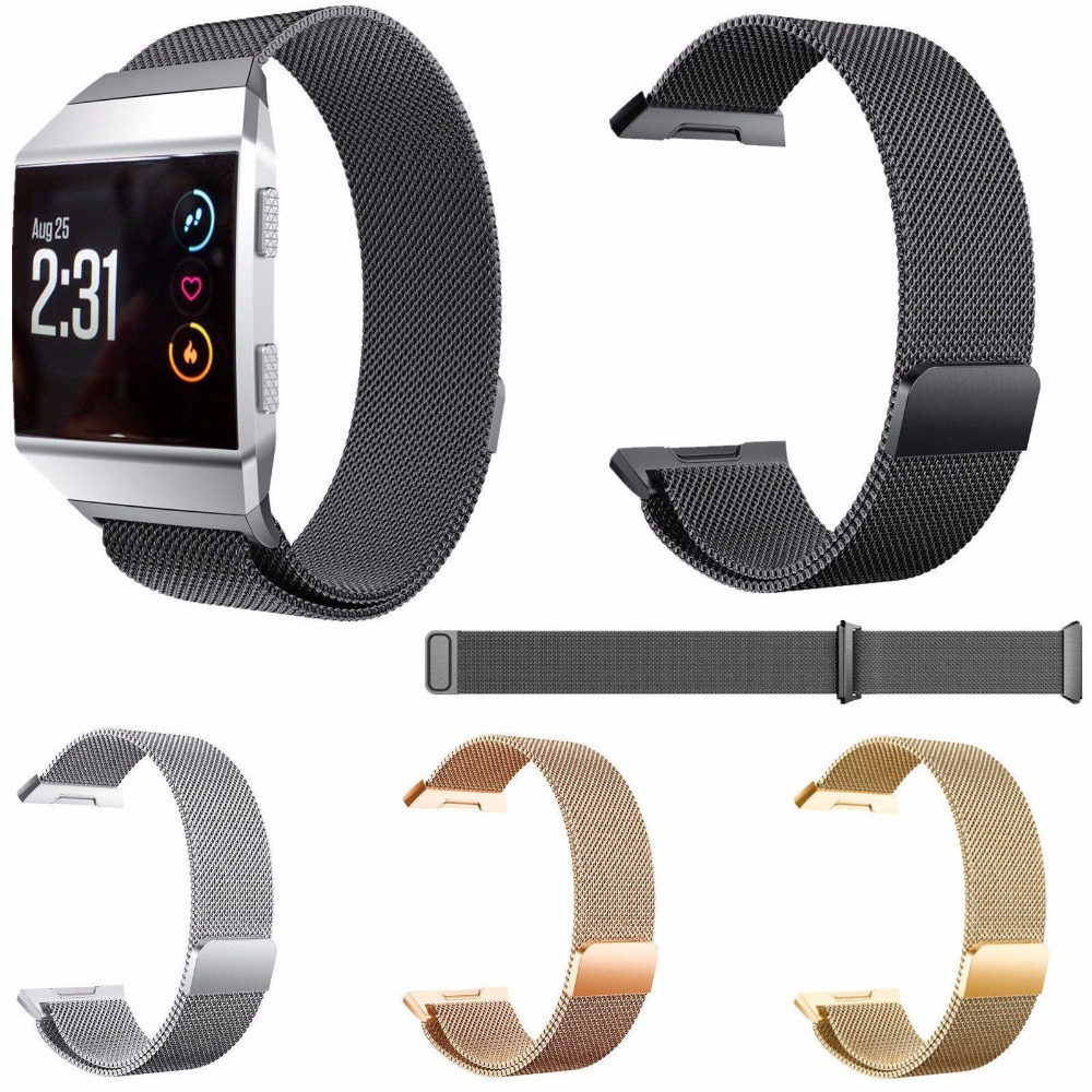 HOT Milanese Stainless Steel Smart Watch Band Replacement Strap Wristbands Belt For Fitbit IonicHOT Milanese Stainless Steel Smart Watch Band Replacement Strap Wristbands Belt For Fitbit Ionic