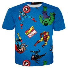 Marvel Avengers 4 kids 3d tshirts baby boy tees iron man Spiderman child Girls t shirts Hulk Superman Captain America cosplay все цены