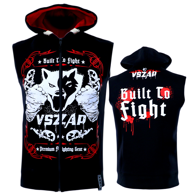 VSZAP MMA gilet sans manches Hoodies tête de loup Boxer garder au chaud respirant Sweatshirts hommes sport vestes Hip Hop grande taille S-3XL