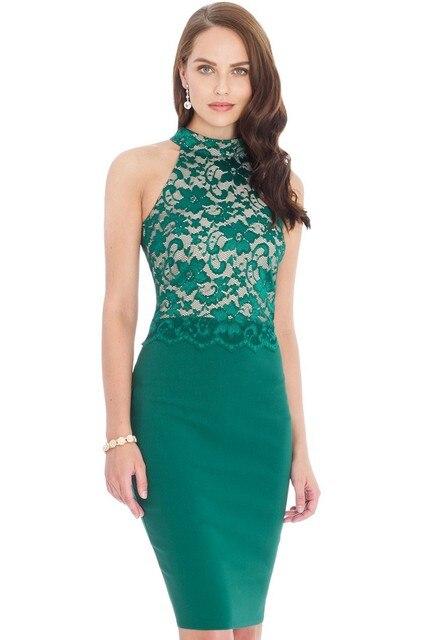 ffede49505 7XL 6XL Plus Size Women High -Neck Lace Dress Dress Vestidos Sexy Big Size  Black Ladies Green Sexy Pencil dressesMaxi Clothing