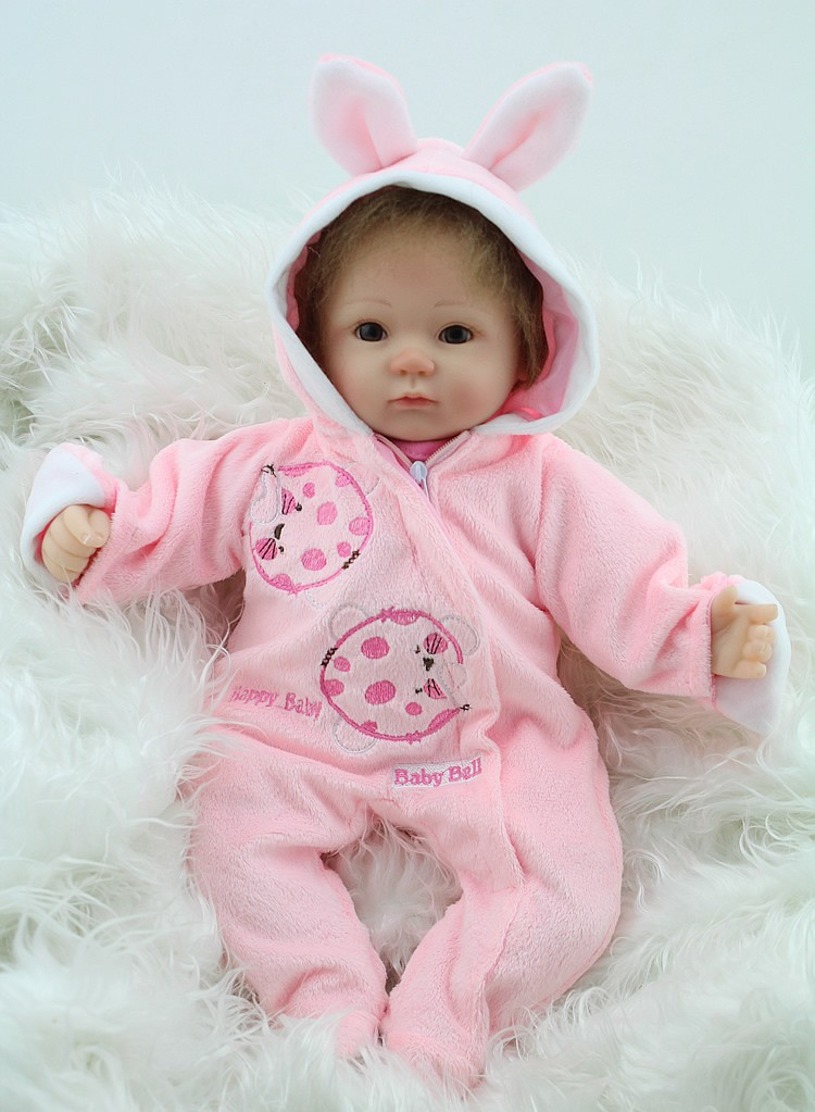18 pouces Silicone souple Reborn bébé poupées bébé vivant poupée pour les filles à la main vinyle jouets en peluche réaliste NPK marque poupée gros yeux