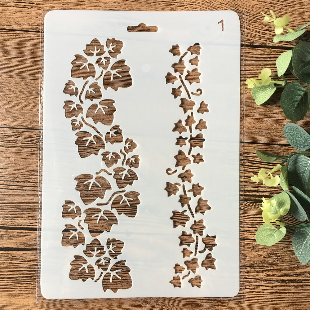 26cm Leaves DIY Craft Layering Stencils Painting Scrapbooking Stamping Embossing Album Paper Card Template