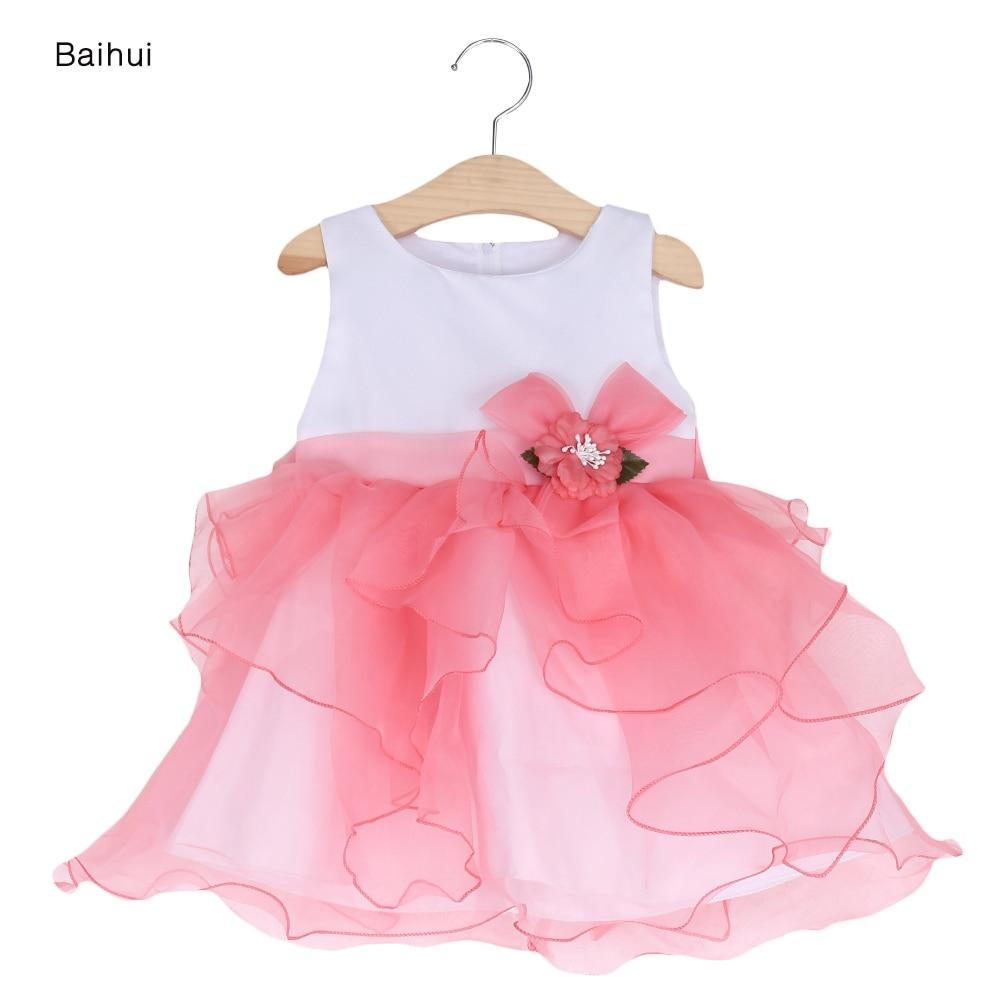 2017 Baby Sommer Kleid Floral Mädchen Prinzessin Kleider Infant ...