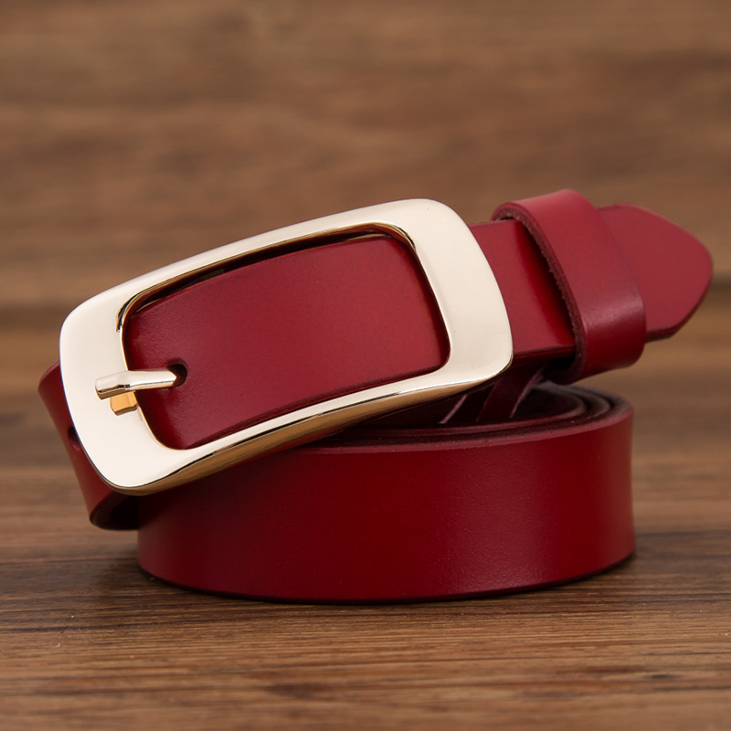 2019 fashion brand 100% genuine leather women   belt   metal pin buckle vintage   belts   for womens jeans high quality free shipping