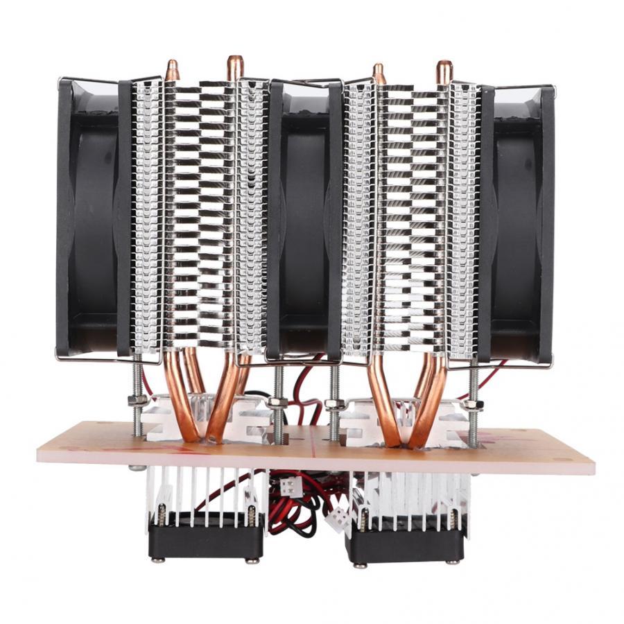 Ventilateur refroidissement ventilateur LED refroidissement pour Pc 12 V bricolage 12A 144 W électronique semi-conducteur réfrigérateur Double Kit ventilateur - 4