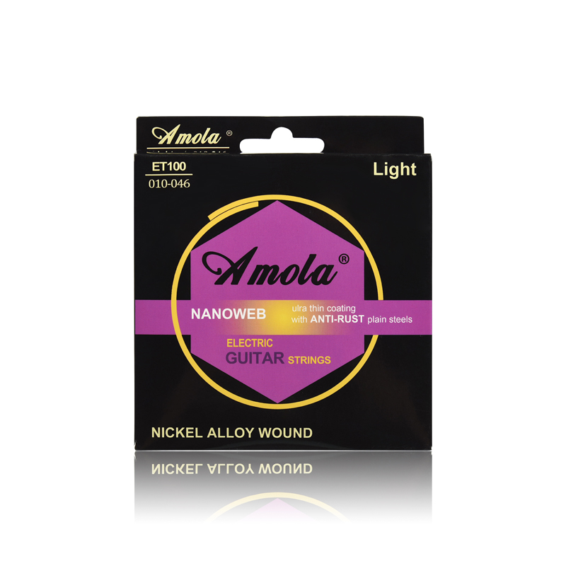 Original Amola ET200 009-042 Electric Guitar Strings Nickel Alloy Wound Musical Instruments Accessories Super Light 1 Sets