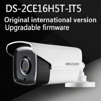 Бесплатная доставка английская версия DS-2CE16H5T-IT5 Turbo HD TVI камеры 5MP очень низкой освещенности Exir пуля Камера экранное меню, 80 м ИК IP67