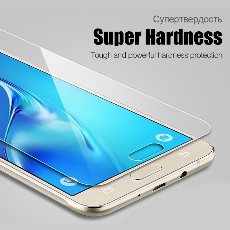 Clear Tempered Glass Front Screen Protector Phone Case For Samsung Galaxy 2