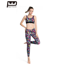 ФОТО  Style Women Sport Suit Geometric Print 2 Piece Yoga Sets Breathable Soft Workout Training Tracksuits  Fitness Quick-dry