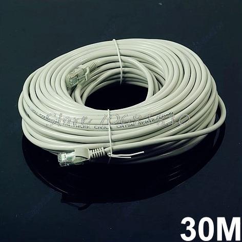 30M 100 FT RJ45 CAT5 CAT5E Ethernet Internet LAN Network Cord Cable Gray Z09 Drop ship