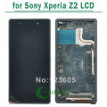 White,Black,Purple LCD Display For Sony for Xperia Z2 L50W D6503 Digitizer Touch Screen with frame Assembly FREE SHIPPING