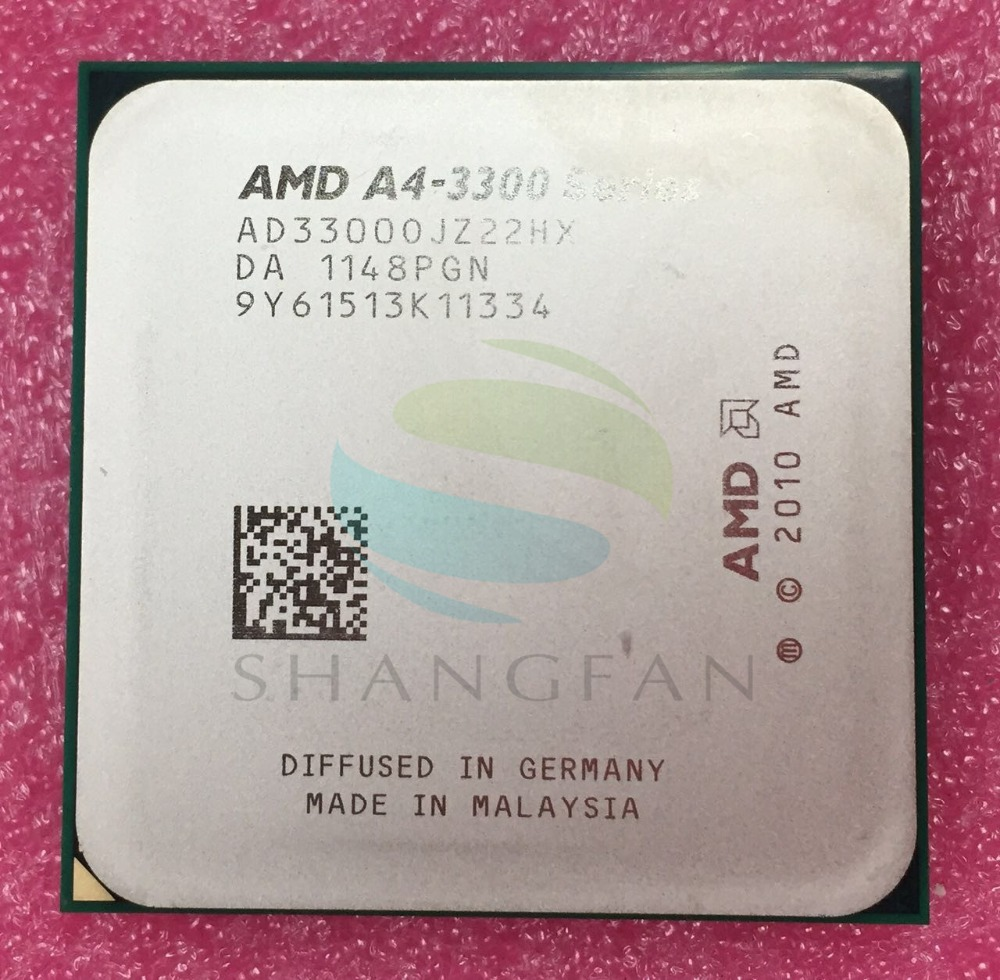 AMD Un-Série A4-3300 A4 3300 Dual-Core De Bureau 2.5 GHz CPU AD33000JZ22HX 65 W Socket FM1