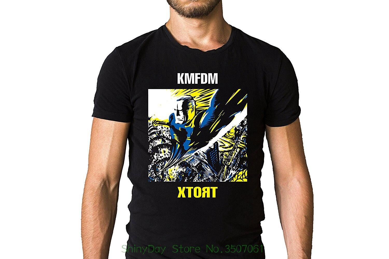 Print Men T Shirt Summer Kmfdm German Industrial Band Xtort 1996