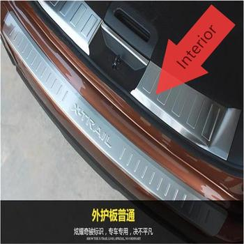 For Nissan X-Trail Rogue 2014 2015 2016 Stainless steel Rear Bumper interior Trunk Threshold Door Sill Protector Cover Trims