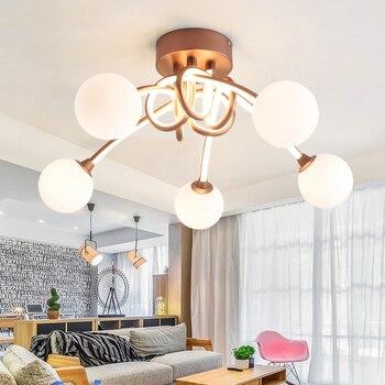 SGROW アルミすりガラスシャンデリア 3/5 ヘッド現代の垂れランプ照明器具寝室ダイニングルームリビングルーム