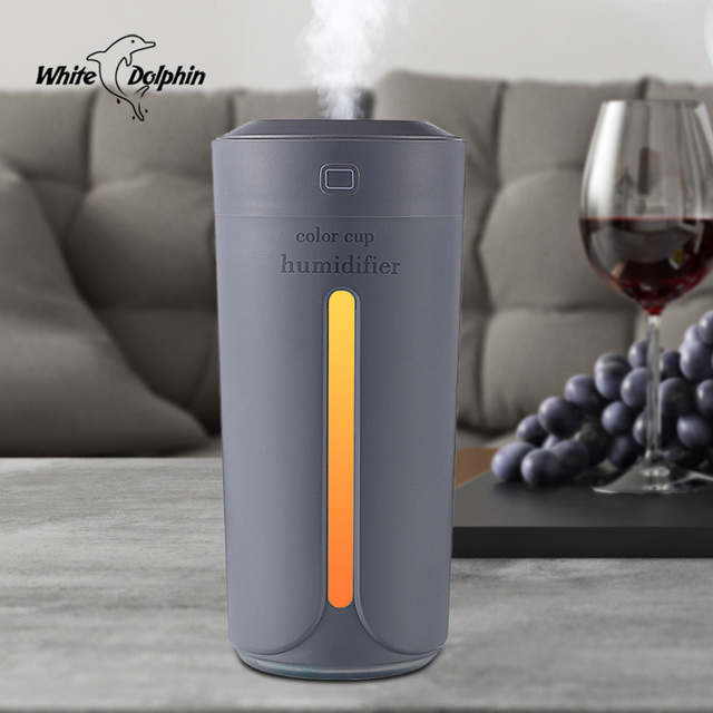 Car Humidifier USB Essential Oil Aroma Diffuser with 7 Color Changing LED Lights for Office Home Ultrasonic Air Humidifier