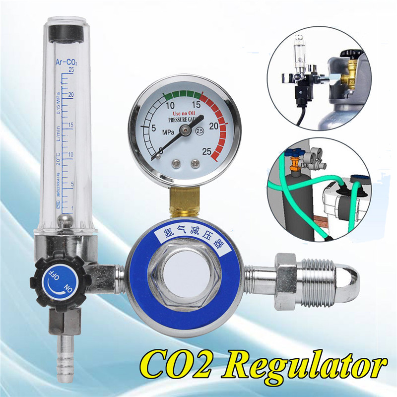 15mpa Argon CO2 Pressure Gas Mig Tig Flow Meter Regulator Welding Gauge Welder G5/8-14 Inlet Thread 1pcs oxygen regulator pressure gauge pressure reducing valve input 15mpa g5 8
