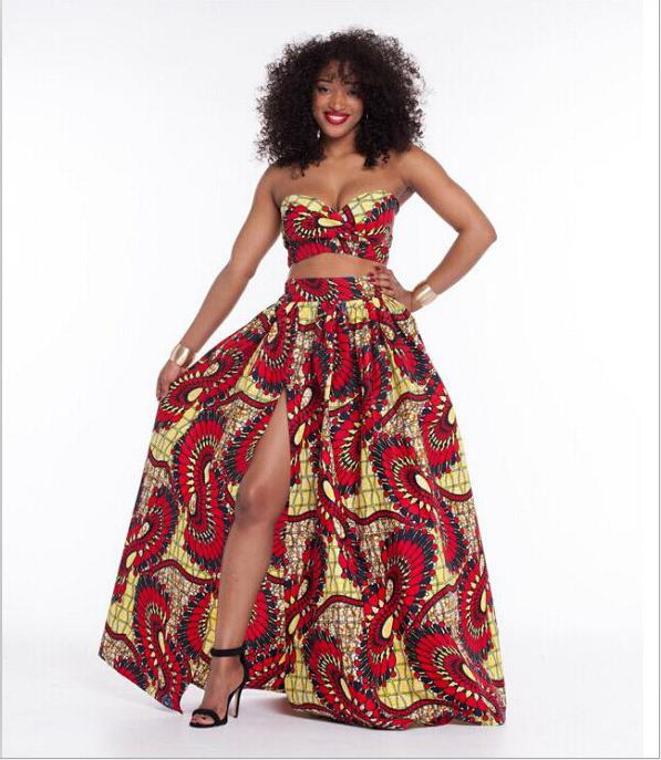 African Print Fashion: New Ladies Fashion Vintage Style African Floral Print High