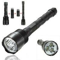 Super power 6000 lumens 5 chế độ 3x xm-l t6 led dài đèn pin đối hunting 18650 pin có thể sạc lại torch đèn ánh sáng