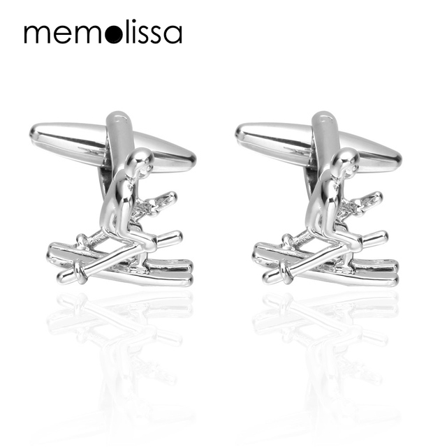 Memolissa Luxury Shirt Cufflinks Mens Cuff Button Link Gold High Gemelos Abotoadura Jewelry