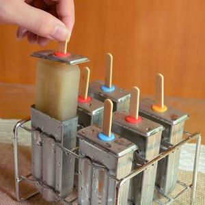Image 4 - UPORS ze stali nierdzewnej forma do lodów na patyku stojak lody na patyku formy mrożone na patyku maszyna do lodów na patyku domowe lody formy z Popsicle uchwyt