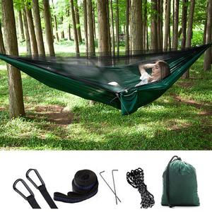 Image 3 - ポータブル屋外のキャンプハンモック蚊帳防水オーニングぶら下げテント睡眠ベッドスイングハンモック 1 2 人