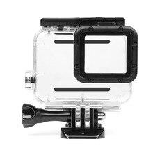 Снимать 45 м Водонепроницаемый чехол для GoPro Hero 5 Black Edition Камера с опорное крепление защитной Hero 5 случае Go pro Интимные аксессуары