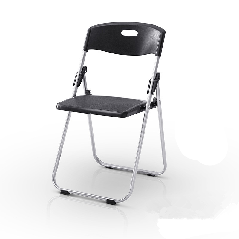 portable folding chair simple modern strong bearing steel frame home office chair durable meeting staff