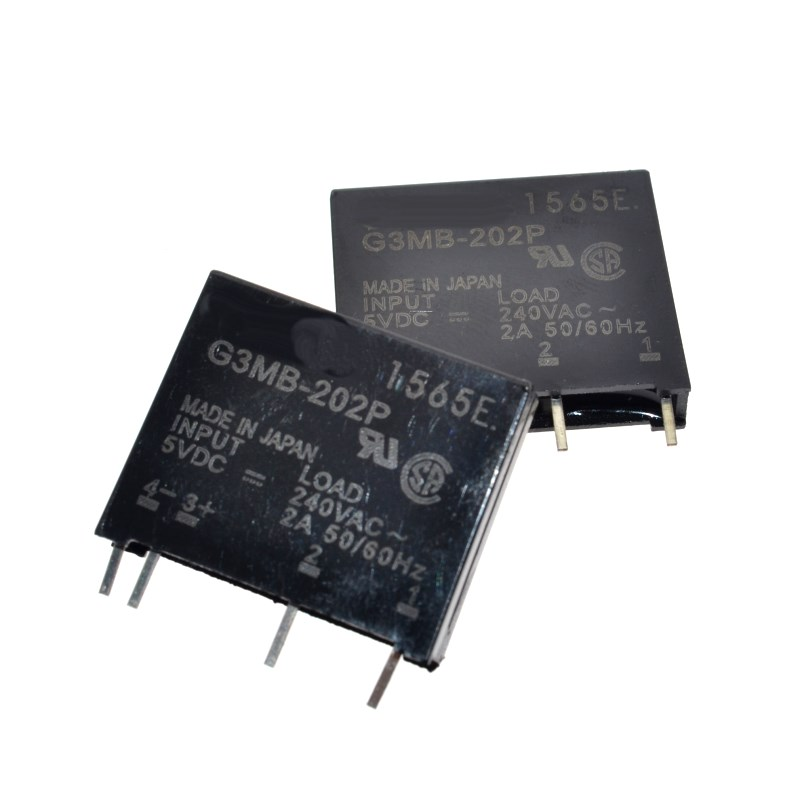 Free Shipping 10 Pcs G3MB-202P DC-AC PCB SSR In 5VDC,Out 240V AC 2A Solid State Relay