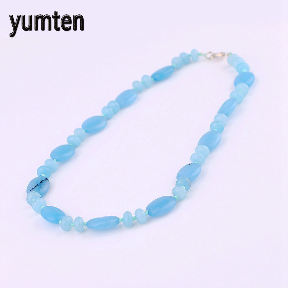 Yumten Aquamarine Necklace Power Natural Stone Crystal Women Jewelry Price Natural Pearls Pokemon Pingente Panda Wholesale 5 PCS