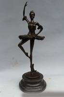 14 Western Книги по искусству бронзовая скульптура Мрамор Belle Для женщин Танцы девушка Балетные костюмы статуя