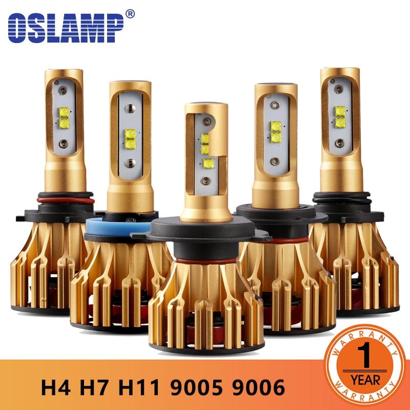 Oslamp S6 H4 H7 H11 9005 9006 H13 LLEVÓ la Linterna Del Coche bombillas 6500 K 70 W/Pair Hi-lo/Monohaz Faros De Automóviles lámpara de la Niebla 12 V 24 V