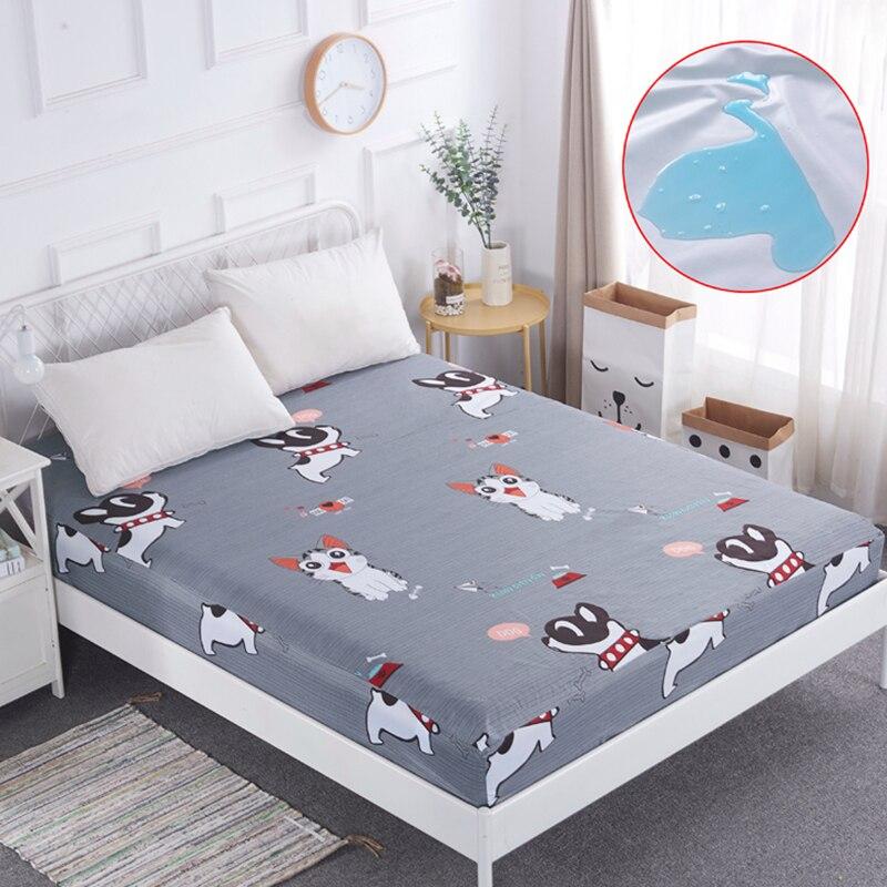 1 St Katoen Ademend Matras Cover Met Elastische Matrasbeschermer Bed Proof Stof Mijt Matras Cover Voor Matras # Een Zo Effectief Als Een Fee Doet