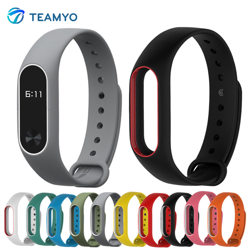 Silicone For Xiaomi Mi Band 2 Bracelet Strap Miband 2 Colorful Strap Wristband Replacement Smart Band For Mi Band 2 Accessories tearoke colorful silicone strap for xiaomi mi band miband 1 1s bracelet replacement wristband band accessories reemplazo pulsera