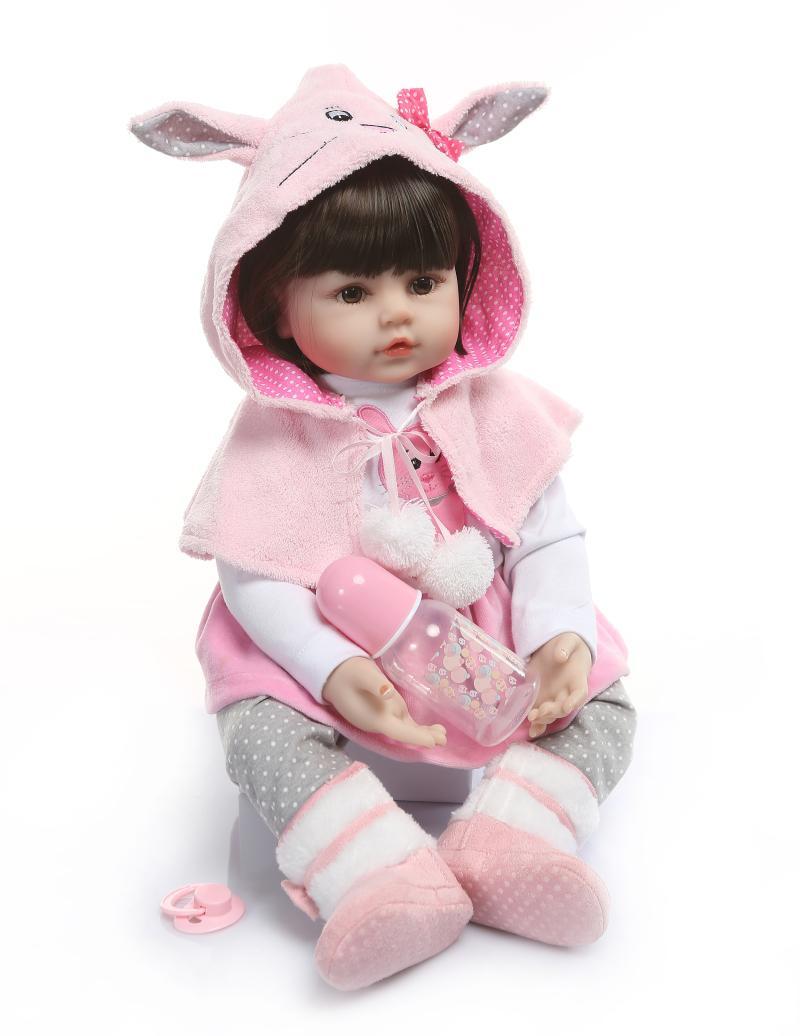 Bebes Reborn menina bambole 24 60 centimetri di colore rosa del silicone del coniglio del bambino rinato bambole del vinile della ragazza della principessa del bambino del bambino vivo bambola giocattoli regaloBebes Reborn menina bambole 24 60 centimetri di colore rosa del silicone del coniglio del bambino rinato bambole del vinile della ragazza della principessa del bambino del bambino vivo bambola giocattoli regalo