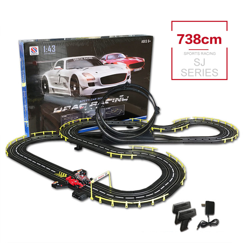 RC Car Track 1:43 Toys Electric Wired Car Toy Playing Educational & Learning Building Car Track High Speed Racing Car Toys цена