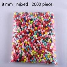 2000 шт 8 мм помпоны мягкие помпоны меховые шарики художественные игрушки поделки Сделай Сам одежда швейная ткань принадлежности Свадебные украшения для дома